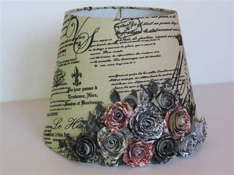 Handmade Lshades Traditional - country l shade with handmade paper bouquet