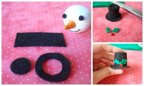 how to make a top hat out of card snowmen one stitch two stitch