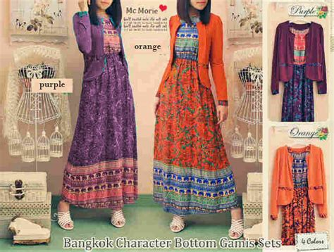Batik Set 2 by Busana Batik Bunga Bangkok Rmc 134 Baju Batik Modern