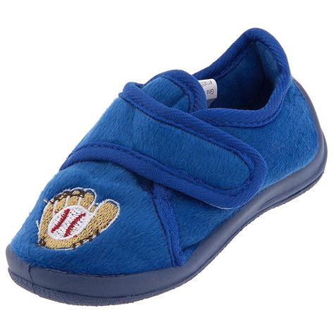 house shoes boys blue baseball velcro slippers for toddler boys