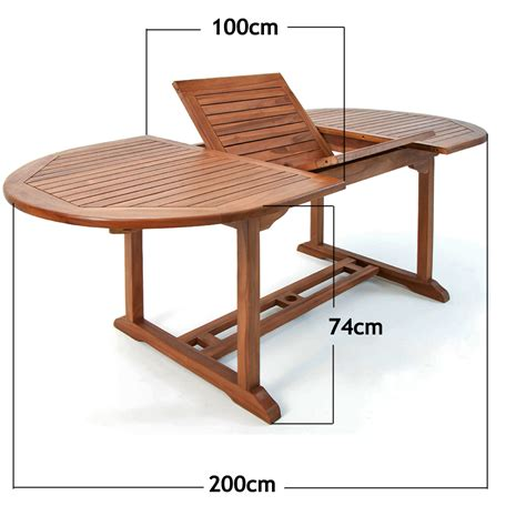 Wooden Garden Dining Table Quot Vanamo Quot 6 Seater Extendable Wooden Oval Dining Table