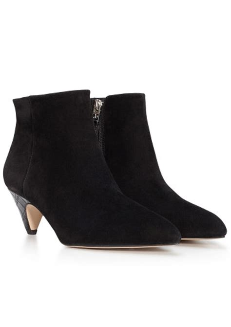 sam edelman suede ankle boot black