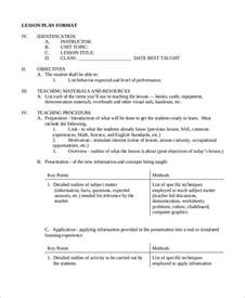nursing lesson plan template sle lesson plan format 8 exles in word pdf