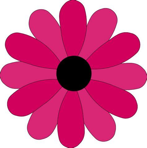 Flower Petal Clipart pink two tone petals hi free images at clker vector clip royalty free