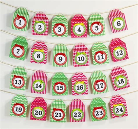 printable advent calendar boxes diy advent calendars project nursery