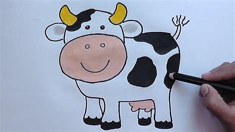 vaca para dibujar como dibujar y colorear paso a paso a la vaca as drawing