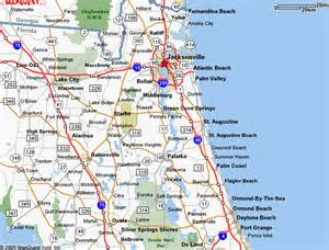 Florida Map East Coast by Map Of Florida East Coast Cities Images