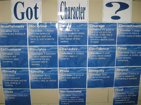 character education themes elementary character bulletin boards quotes