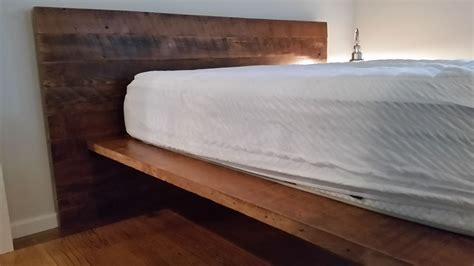 platform bed with built in side tables made reclaimed wood platform bed with built in side