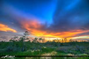 Beutiful by Beautiful Sunset Sky Florida Wetlands