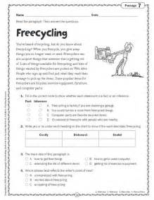 comprehension skills short passages for close reading grade 4