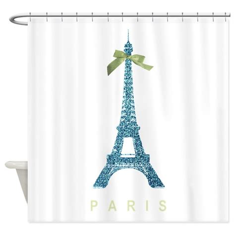 eiffel tower shower curtain blue eiffel tower paris shower curtain by inspirationzstore