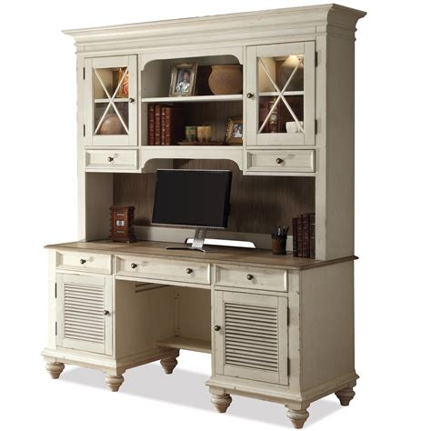 credenza desk with hutch shutter door credenza glass door hutch by riverside