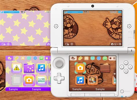 nintendo 3ds home screen themes launch with 3ds
