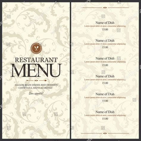 29 Blank Menu Templates Editable Psd Ai Format Download Free Premium Templates Blank Menu Template