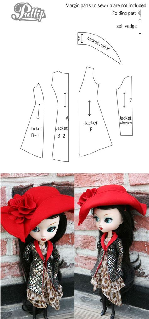 pattern pullip clothes pullip jacket pattern pullip blythe clothes will fit