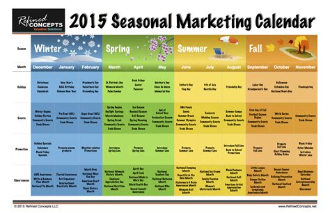 Seasonal Calendar Template