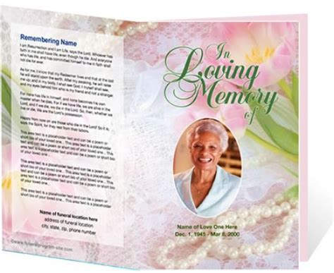 free printable funeral program template 10 best images of funeral program booklet free funeral