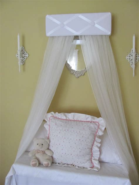 Princess Canopy Crib by Tufted Bed Canopy Crib White Satin Princess By Sozoeyboutique