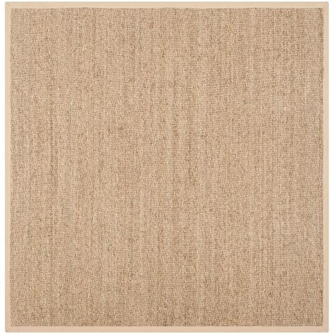10 Square Area Rugs Safavieh Fiber Assorted 10 Ft X 10 Ft Square Area Rug Nf115a 10sq The Home Depot