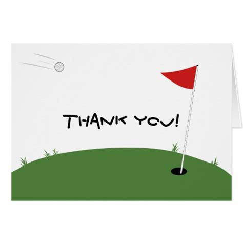 golf thank you card template golf note card zazzle