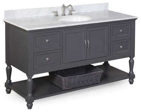 charcoal grey bathroom vanity beverly 60 quot single sink bath vanity carrara and charcoal