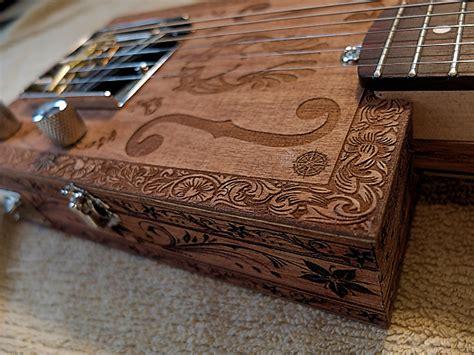 Handmade Cigar Box Guitars - handmade engraved mahogany carl s custom deluxe 6