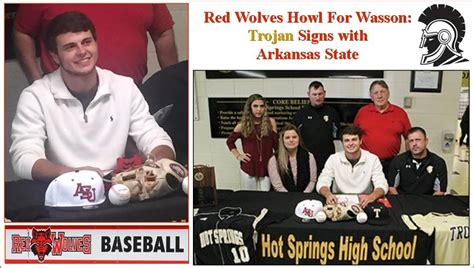 College Baseball Letter Of Intent Dates Wasson Signs Baseball National Letter Of Intent Sprin