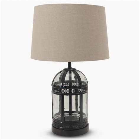 With Light For 7009 Black 43sogt washington black metal l with linen shade lighting one world trading company