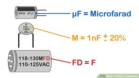 what size farad capacitor to use simple ways to read a capacitor wikihow