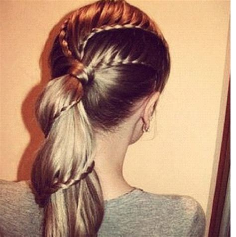 fancy corn rows fancy braided ponytail with waterfall braids in it