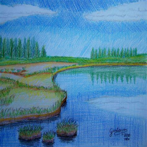 imagenes faciles para dibujar paisajes paisajes para dibujar con color