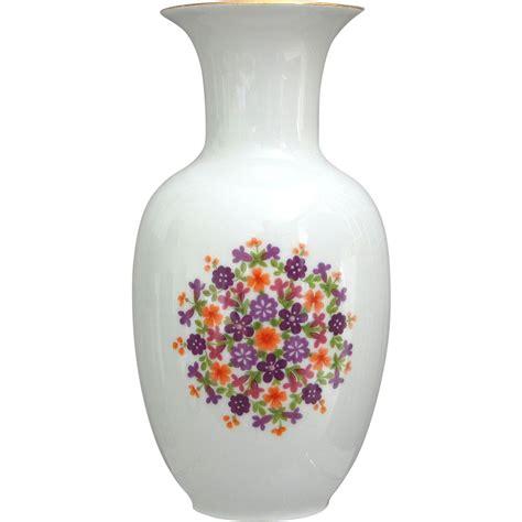 royal kpm bavaria porcelain floral vase from