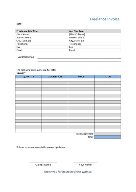 Freelance Writer Invoice Template Invoice Template Ideas Freelance Writer Invoice Template