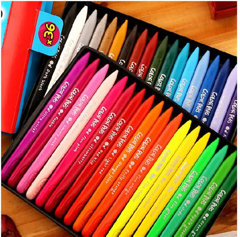 Crayon Apik 12 Colour aliexpress buy maped color pens plastic crayons 12 18 24 36 set color pens plastic pens