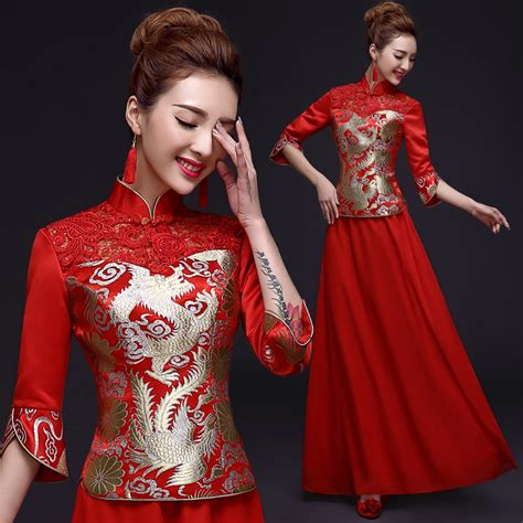 pattern red winter clothes 1pcs lot free shipping long section chinese style dragon