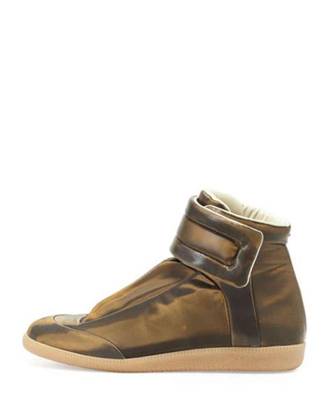 margiela sneakers gold maison margiela future high top sneaker gold