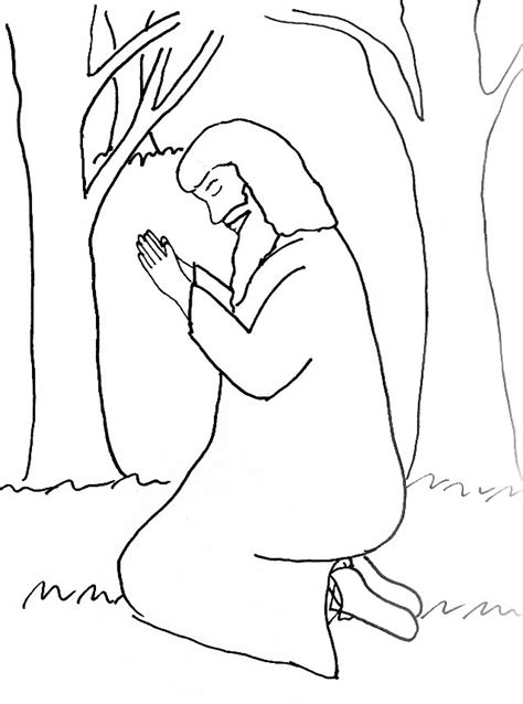 coloring pages jesus praying in the garden bible story coloring page for the garden of gethsemane