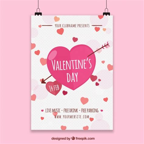 day poster template happy valentines day poster design template