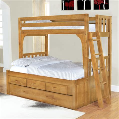 twin bunk bed with trundle discovery world furniture wayfair