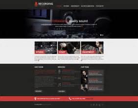 studio templates recording studio responsive website template 46915