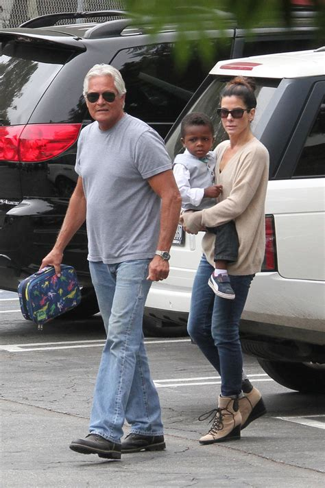 sandra bullock son sandra bullock picks louis up from school zimbio