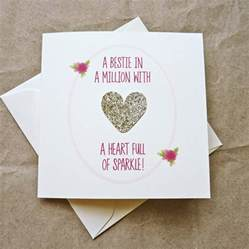 gold of sparkle best friend birthday card by be darcey notonthehighstreet