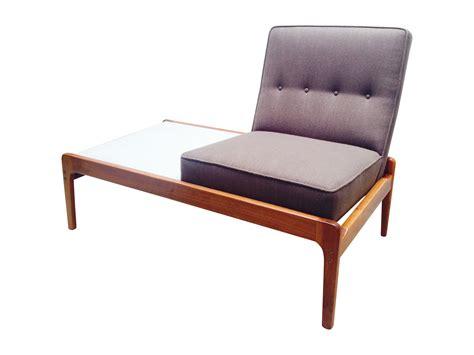 modern bench seat rare mid century bench seat table combo chair chairish