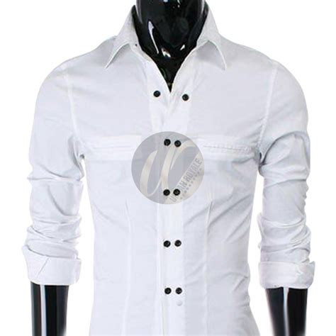 White Shirt Black Button White Shirt Is Shirt