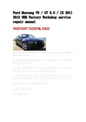 service manuals schematics 2005 ford gt electronic valve timing ford mustang 2005 2006 2007 2008 v6 gt repair manual