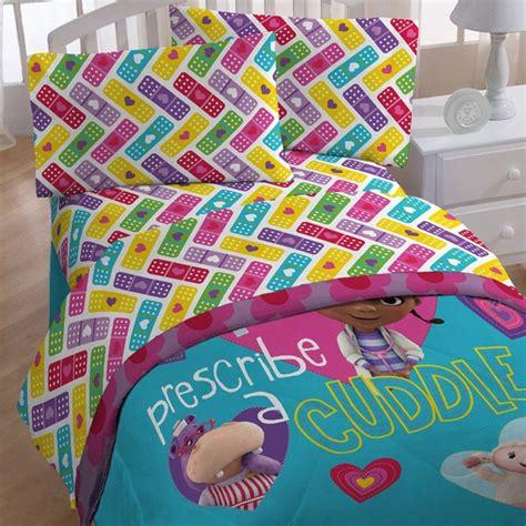 doc mcstuffins twin bed set 4pc disney doc mcstuffins twin bedding set doctor prescribe cuddles comforter ebay