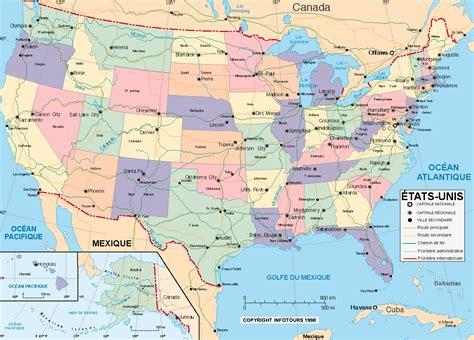 on a map of usa etats unis usa carte