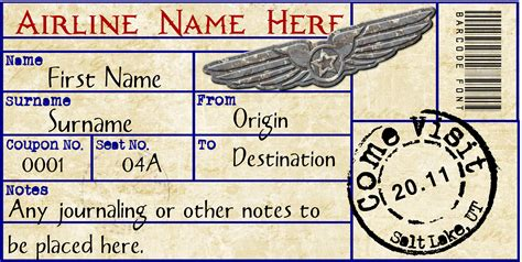 flight ticket template gift airplane ticket s ticket ticket vorlage