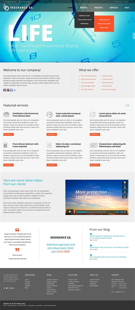 website templates insurance joomla template website